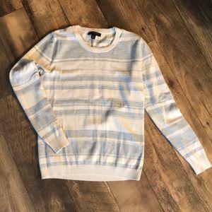 Gray and cream striped Banana Republic sweater